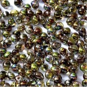 Miyuki Tropfen Perlen 3,4mm Czech Coating 55014 Crystal Magic Green ca 10 gr