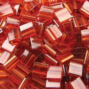 Miyuki Tila Perlen 5mm transparent dark Topaz TL0134 ca 7,2gr