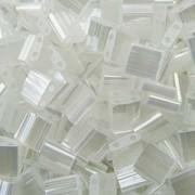 Miyuki Tila Perlen 5mm silk satin Crystal TL2548 ca 7,2gr