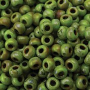 Miyuki Rocailles Picasso Perlen 4mm 4515 matt Chartreuse ca 20gr