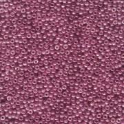 Miyuki Rocailles Perlen 2mm 0313SF semi matt gold luster Cranberry ca 12gr