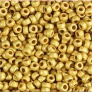 Miyuki Rocailles Perlen 1,5mm 4202F frosted Duracoat galvanized Gold ca 11 Gr.