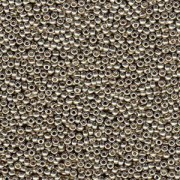 Miyuki Rocailles Perlen 1,5mm 4221 Duracoat galvanized Smokey Pewter ca 11gr