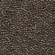 Miyuki Rocailles Perlen 2,2mm 0457 oder 9660-694 metallic dark Bronze ca 10gr