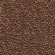 Miyuki Rocailles Perlen 2,2mm 0457L oder 9660-674 metallic light Bronze ca 10gr
