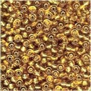 Miyuki Rocailles Perlen 4mm 0003 transparent silverlined Gold 20gr