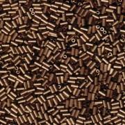 Miyuki Stäbchen Perlen Bugle Beads 3mm 2006 matt metallic dark Bronze ca 10gr