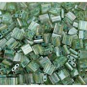 Miyuki Tila Picasso Perlen 5mm transparent Olivine TL4506 ca 7,2gr