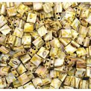 Miyuki Tila Picasso Perlen 5mm matt Canary Yellow TL4512 ca 7,2gr
