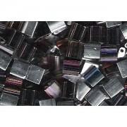 Miyuki Tila Special Plating Perlen 5mm transparent Amethyst Topaz Chrome TL4554 ca 7,2gr
