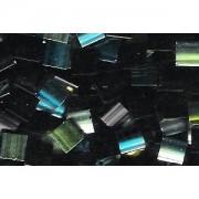 Miyuki Tila Special Plating Perlen 5mm Ebony Iridescent Chrome TL4555 ca 7,2gr