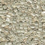 Miyuki Würfel Perlen, Cube, Square Beads 3mm 1051 galvanized Silver 20gr