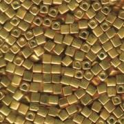 Miyuki Würfel Perlen, Cube, Square Beads 3mm 1053 galvanized Gold 20gr