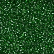 Miyuki Rocailles Perlen 2mm 0016 transparent silverlined Kelly Green 12gr