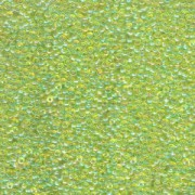 Miyuki Rocailles Perlen 2mm 0258 transparent rainbow Lime Green 12gr