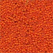 Miyuki Rocailles Perlen 2mm 0405 opaque Medium Orange 12gr