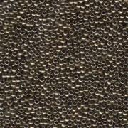 Miyuki Rocailles Perlen 2mm 0457 metallic Bronze 12gr