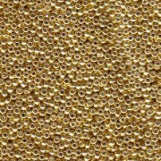 Miyuki Rocailles Perlen 2mm 1053 galvanized Gold ca 12gr