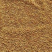 Miyuki Rocailles Perlen 3mm 0182 galvanized Gold ca 13gr
