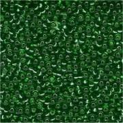 Miyuki Rocailles Perlen 1,5mm 0016 transparent silverlined Kelly Green ca 11gr