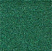 Miyuki Rocailles Perlen 1,5mm 0295 transparent rainbow Green-Blue-Gold ca 11gr