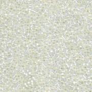 Miyuki Rocailles Perlen 1,5mm 0551 gilt lined White Opal ca 11gr