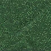 Miyuki Rocailles Perlen 1,5mm 0016F matt silverlined Green ca 11gr