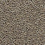 Miyuki Rocailles Perlen 3mm 4221 Duracoat galvanized Smokey Pewter ca 22gr