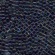 Miyuki Würfel Perlen, Cube, Square Beads 3mm 0401R opaque rainbow Black 20gr