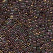 Miyuki Würfel Perlen, Cube, Square Beads 3mm 0462 metallic rainbow Gold - Violet - Green 25gr