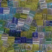 Miyuki Würfel Perlen 3mm Mix06 Lagoon ca 20 Gr.