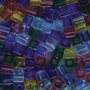 Miyuki Würfel Perlen 3mm Mix14 Gemtones ca 25 Gr.