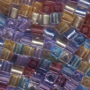 Miyuki Würfel Perlen 3mm Mix20 Prarie ca 25 Gr.
