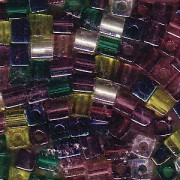 Miyuki Würfel Perlen 3mm Mix21 Lavender Garden ca 25 Gr.
