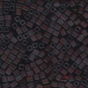 Miyuki Würfel Perlen, Cube, Square Beads 4mm 0134F transparent matt Dark Amber 20gr