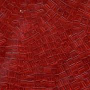 Miyuki Würfel Perlen, Cube, Square Beads 1,8mm 0140 transparent Medium Red 12gr