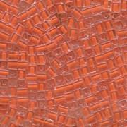 Miyuki Würfel Perlen, Cube, Square Beads 4mm 0236 insinde colorlined Orange 25gr
