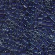 Miyuki Würfel Perlen, Cube, Square Beads 1,8mm 0239 insinde colorlined Cobalt Blue 12gr