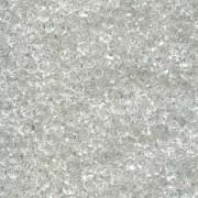 Miyuki Spacer Perlen 2,2X1mm Crystal ca 10 gr