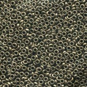 Miyuki Spacer Perlen 2,2X1mm metallic dark Bronze ca 10 gr