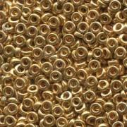 Miyuki Spacer Perlen 3X1,3mm galvanized Gold ca 10 gr
