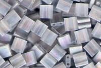 Miyuki Tila Perlen 5mm Crystal  AB Matt Transparent 0131FR 7,2gr