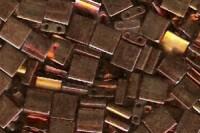 Miyuki Tila Perlen 5mm Metallic Gold Irisierend TL0462 7,2gr