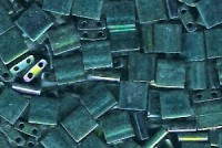 Miyuki Tila Perlen 5mm Metallic Green Irisierend TL0468 7,2gr