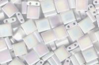 Miyuki Tila Perlen 5mm Pearl White Opaque TL0471 7,2gr