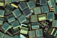 Miyuki Tila Perlen 5mm Metallic Green Irisierend Matt TL2008 7,2gr