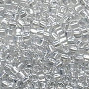 Miyuki Dreieck Perlen, Triangle Beads 2,5mm 1105 colorlined Silver 13gr