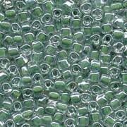 Miyuki Dreieck Perlen, Triangle Beads 2,5mm 1117 colorlined Hunter Green 13gr