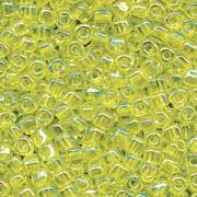 Miyuki Dreieck Perlen, Triangle Beads 2,5mm 1153 transparent rainbow Lime Green 13gr