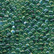 Miyuki Dreieck Perlen, Triangle Beads 2,5mm 1159 transparent rainbow Medium Green 13gr
